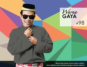 Baju Melayu -100 Warna Gaya 98 Black Size XXL