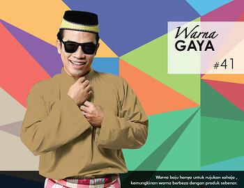 Baju Melayu -100 Warna Gaya 41 Brown Size M