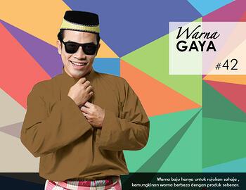 Baju Melayu -100 Warna Gaya 42 Brown Size L