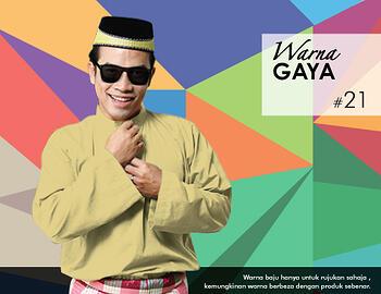 Baju Melayu -100 Warna Gaya 21 Yellow Size XL