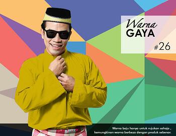 Baju Melayu -100 Warna Gaya 26 Yellow Size M