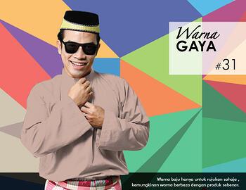 Baju Melayu -100 Warna Gaya 31 Orange Size L