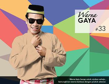 Baju Melayu -100 Warna Gaya 33 Orange Size L