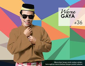 Baju Melayu -100 Warna Gaya 36 Orange Size M
