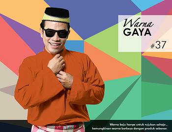 Baju Melayu -100 Warna Gaya 37 Orange Size L
