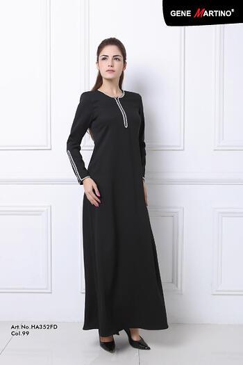 Baju Kurung Modern - GA828SU Col 99 Black Size M