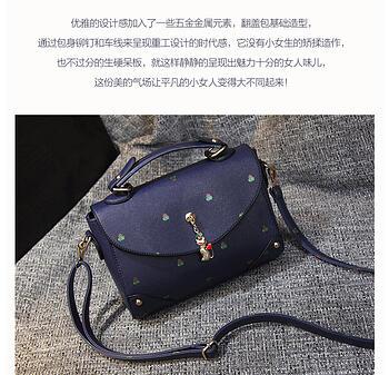 2016新款女包日韩时尚女士小方包柳钉小包包潮女单肩斜挎包 korea fashion beg