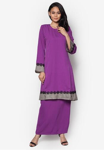 Baju Kurung Modern - FA576SU 66 Purple XS