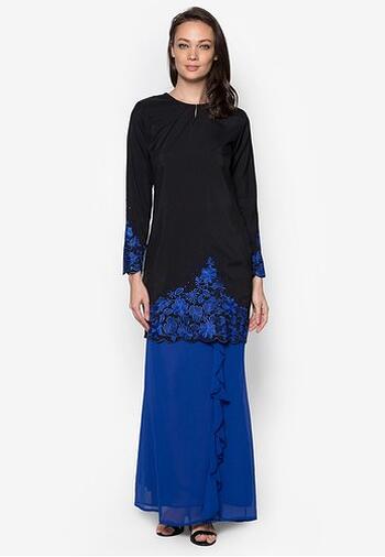 Baju Kurung Modern - GA642SU 9977 Blue/Black XS