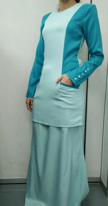 Baju Kurung Modern - GA830SU 7572 Light Green L