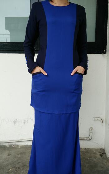 Baju Kurung Modern - GA830SU 7977 Blue S