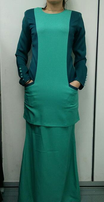 Baju Kurung Modern - GA830SU 8983 Dark Green XS