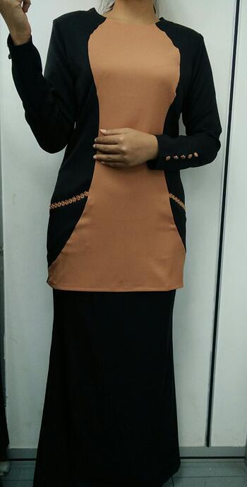 Baju Kurung Modern - GA836SU 9947 Black/Brown S