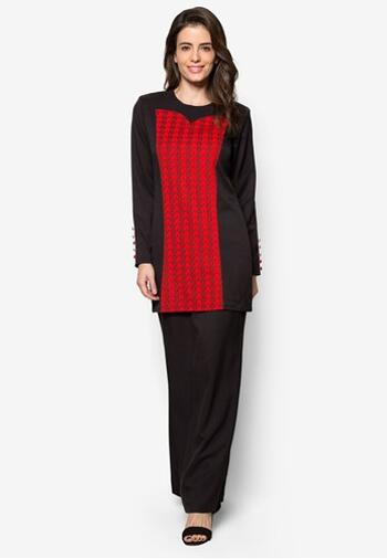 Baju Kurung Modern - GA834SU 9957 Red XS