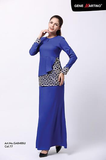 Baju Kurung Modern - GA840SU 77 Blue XL