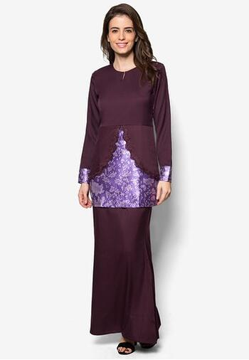Baju Kurung Modern - GA832SU 69 Purple XXL