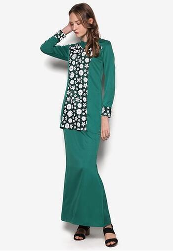 Baju Kurung Modern - GA835SU 85 Green XS