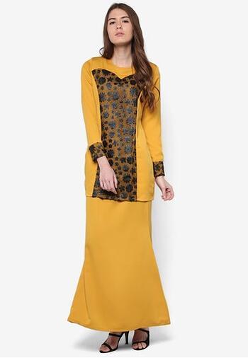 Baju Kurung Modern - GA835SU 27 Yellow L