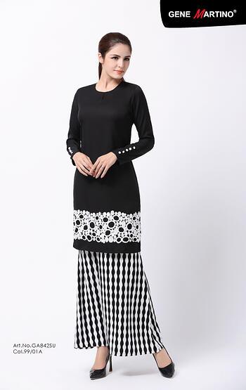 Baju Kurung Modern - GA842SU 9901-A Black L