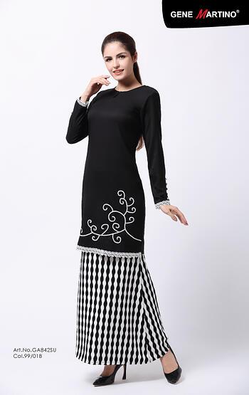 Baju Kurung Modern - GA842SU 9901-B Black XS