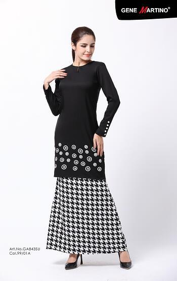 Baju Kurung Modern - GA843SU 9901-A Black L