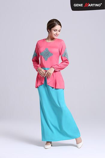 Baju Kurung Modern - GA677SU 5282 Red/Green L