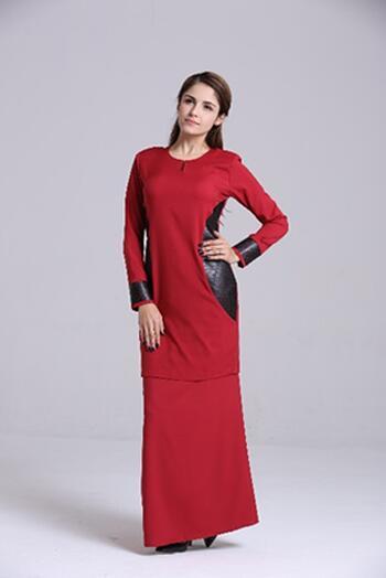 Baju Kurung Modern - GA684SU 57 Red XL