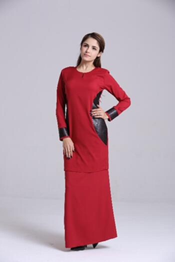 Baju Kurung Modern - GA684SU 57 Red XXL