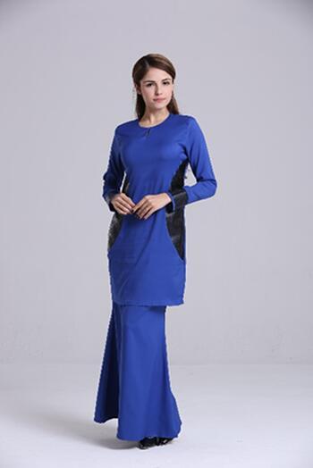 Baju Kurung Modern - GA684SU 77 Blue XXL