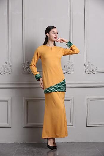 Baju Kurung Modern - GA694SU 45 Brown L