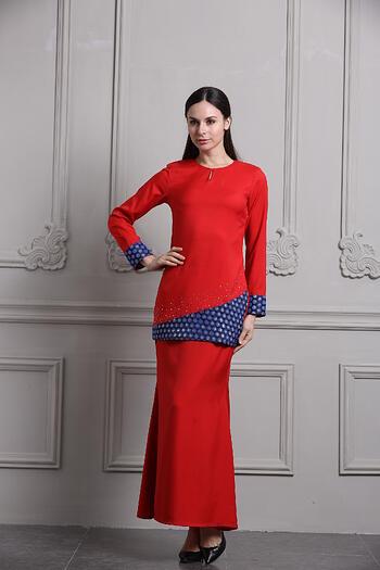 Baju Kurung Modern - GA694SU 55 Red XL