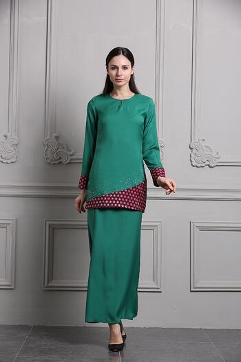Baju Kurung Modern - GA694SU 85 Green M