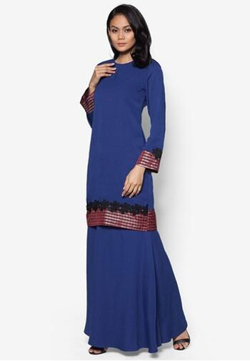 Baju Kurung Modern - GA775SU 77 Blue XXL